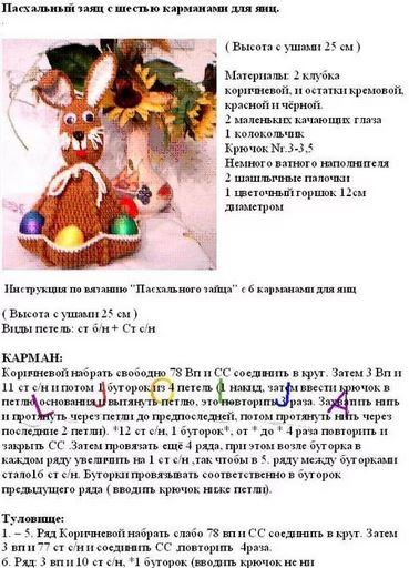 vyzanie-dva Пасхальный кролик своими руками: 20 мастер-классов и идей