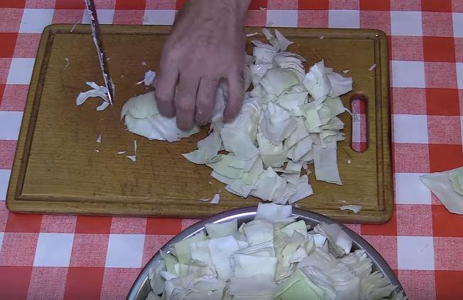 Мариновать капусту быстро крупными кусками