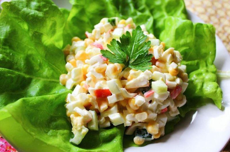 рецепт салатов из крабовых палочек с фото ценитель головоломок может
