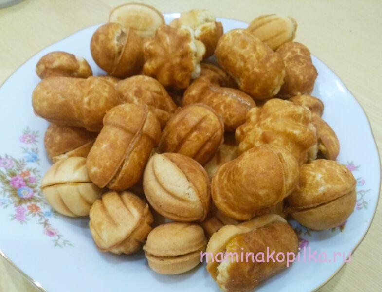 Рецепт печенье орешки с вареной сгущенкой